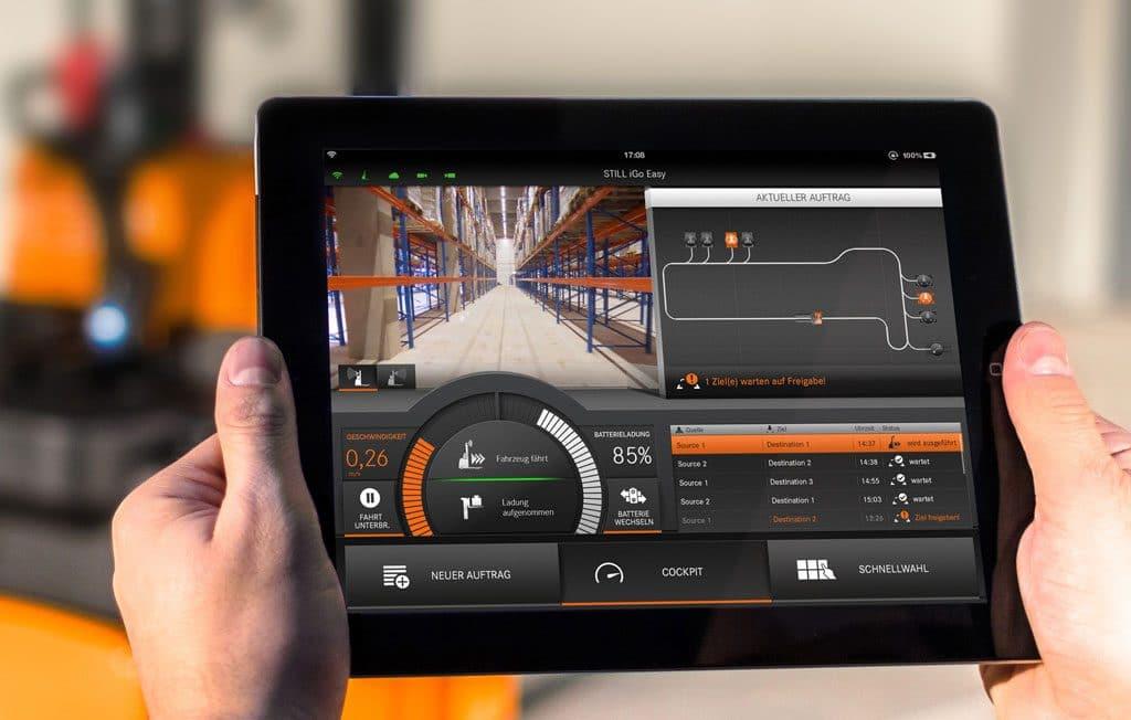 Still iGoEasy: Mit Hilfe des Teach-in-Verfahrens kann die vom Fahrer gefahrene Route, per iGoEasy iPad-App, visualisiert und optimiert werden. | Foto: Still