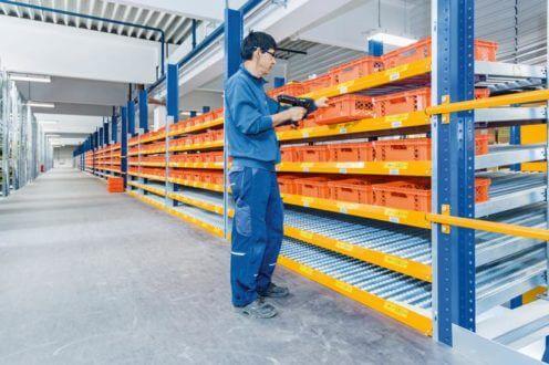 Workflow innerhalb des Distributionszentrums