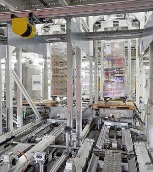 Warenausgangspuffer vollautomatisch