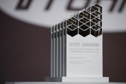IFOY Award 2018 Großer Jubel bei der IFOY-Verleihung auf der CeMAT 2018. (Foto: Ifoy.org)