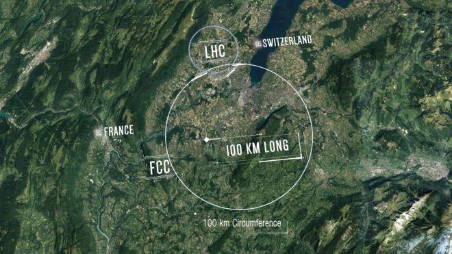 Draufsicht auf das CERN in Genf  (Foto: CERN / RS Media World Archiv)