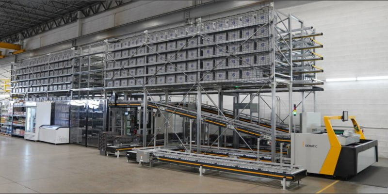 Micro-Fulfillment-Lösung für Handel mit hohem Durchsatz. (Foto: Dematic)