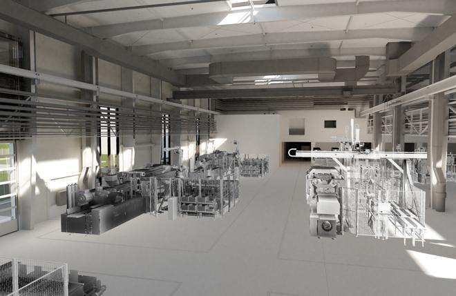 Zur Planung wurde das Pollmann-Werk in 3D visualisiert. (Foto: Beckhoff)