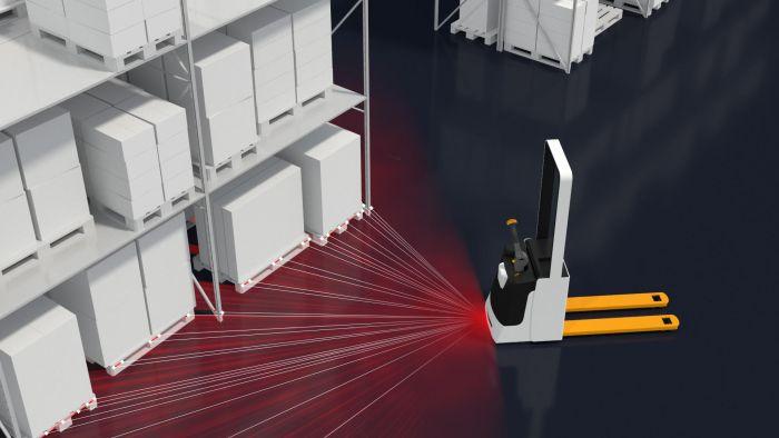 Bosch-Rexroth Laser-Locator im Einsatz (Foto: Bosch-Rexroth)