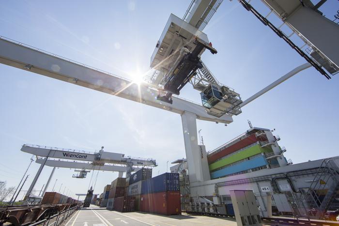 Corona: Hafen bleibt im Vollbetrieb. (Foto: Hafen Wien)