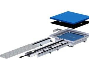 Die sichere Umhausung für das induktive Ladesystem etaLINK 3000 kann mit bis zu 15 kN belastet werden. (Foto: Wiferion)