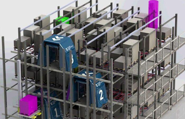 Wave - Vollautomatisches Paletten-Shuttle-Lager mit individuellem Zugang zu jedem Lagerplatz. (Grafik: Volume / RS MEDIA WORLD Archiv)