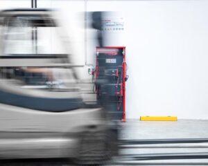 Fronius Perfect Charging – Die perfekte Unterstützung von Flottenbetreibern elektrischer Flurförderzeuge. Damit wird die Intralogistik noch nachhaltiger, effizienter und leistungsfähiger. (Foto: Fronius)