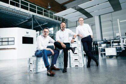 KNAPP -Vorstand (v.l.): C. Grabner, F. Mathi, G. Hofer (Foto: Knapp / Kanizaj / RS MEDIA WORLD Archiv)