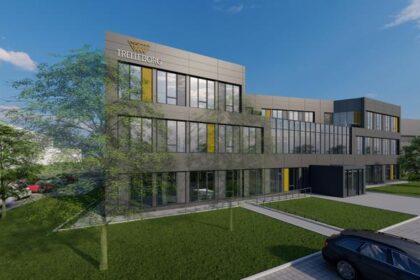 Collaboration – So soll das künftige European Service Center von Trelleborg in Stuttgart aussehen. (Grafik: Trelleborg)